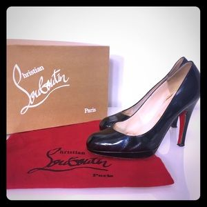 christian louboutin navy new simple pumps