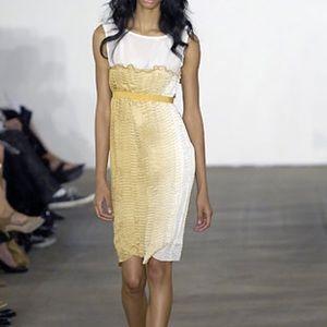 Behnaz Sarafpour Dresses & Skirts - Behnaz Sarafpour Yellow Ombré Silk Dress