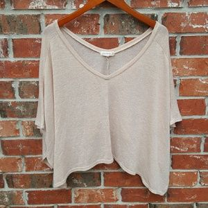 Tops - Tan V Neck Tunic