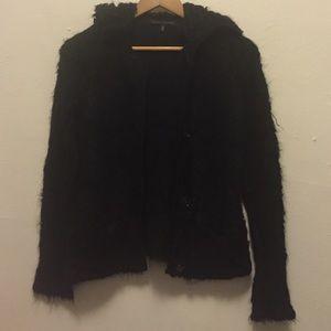 Alessandro Dell'acqua Sweaters - Allessandro Dell' Acqua fur sweater