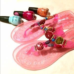 Shoes - ✨Beaded Jelly Flip Flops (☀️Summer Clearance)