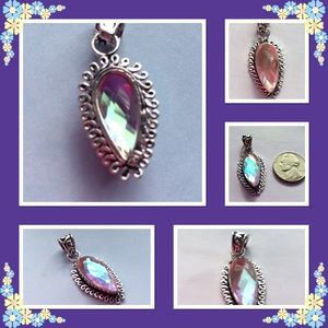 Handcrafted Jewelry - ❤SALE❤STERLING SILVER 💝AQUA MYSTIC PENDANT 💝