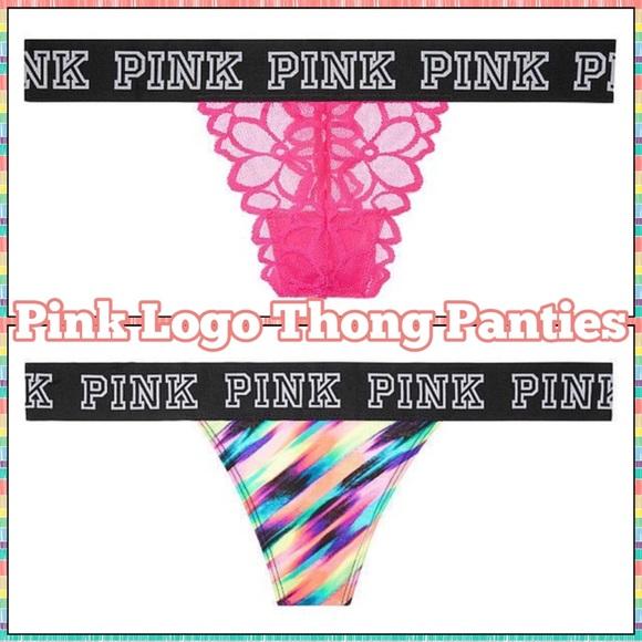 d82a040b175b PINK Victoria's Secret Intimates & Sleepwear   Salepink Logo Thong ...