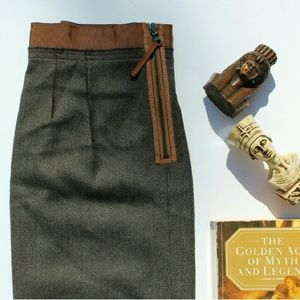 LOFT wool blend skirt
