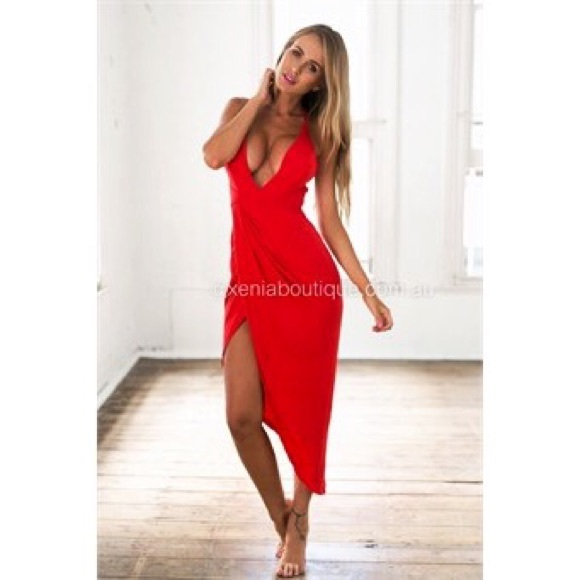 16596705ed Xenia Boutique Red Halter Top Dress. XS. M 57159b72d14d7b4e33008453