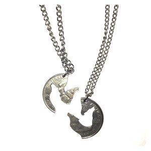 Jewelry - Matching wolf necklaces