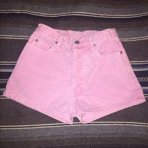 Pants - High waisted Pink shorts