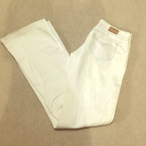 Hydraulic Denim - White Flared Distressed Jeans