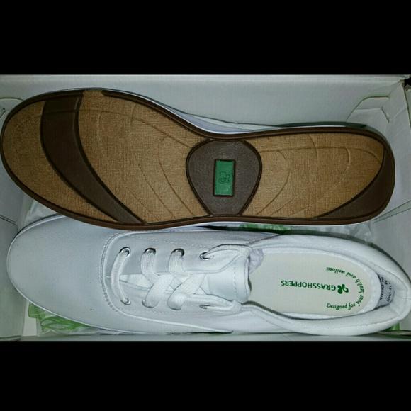 Image White Grasshopper Tennis Shoes