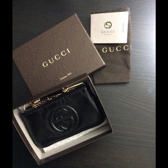 NWT Gucci Soho patent key case d9aaddef3