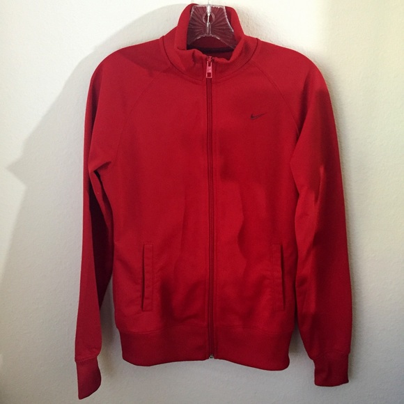 wielka wyprzedaż uk kupować tanio przyjazd Red Nike track jacket (the athletic dept) sz M
