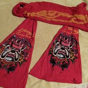 Ed  Hardy  long scarf#BUNDLE  AND  GET  DISCOUNT