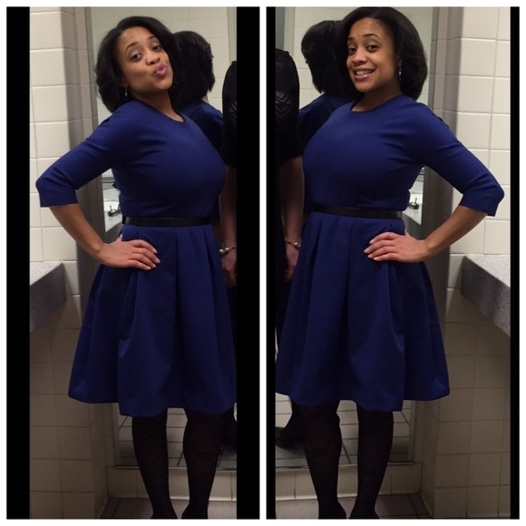 572ddd24bcb169 GAP Dresses | 34 Sleeve Fit Flare Dress Wpockets | Poshmark
