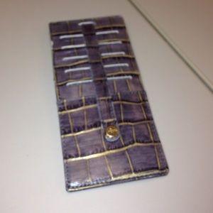 Abas Handbags - Alligator embossed leather wallet
