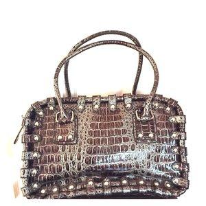 Handbags - Crocodile Leather Like Bag