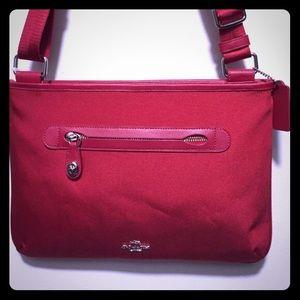 Red Coach Crossbody bag
