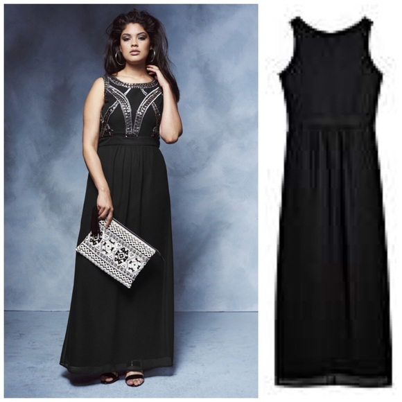 70% off Simply Be Dresses & Skirts - Beaded Bodice Maxi Dress from ...