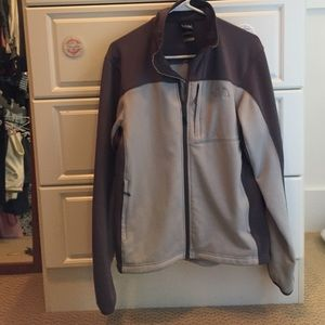 North face jacket men's medium gray