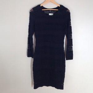 NWT h&m Little black lace long sleeve dress