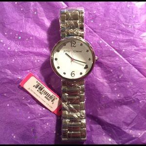 Brand new silver Betsey Johnson watch ⌛️