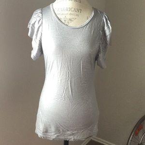 Zara Tops - Zara top silver shirt size medium