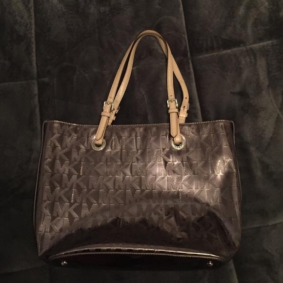 dd3c3000b0ed8d ... MICHAEL Michael Kors Bags - Michael Kors MK Metallic Mirror Tote Nickel  Silver