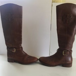 Tory Burch brown riding boots size 6 1/2 m