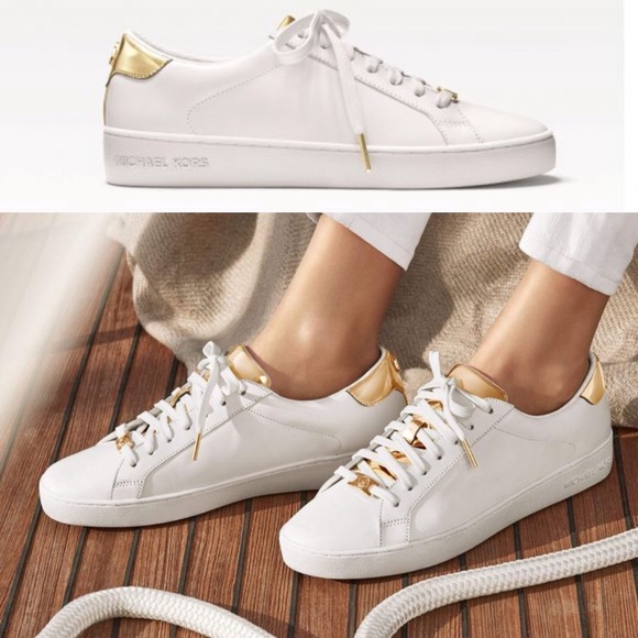 NWOT Michael Kors Leather Irving Leather Sneaker. M 57166b85ea3f36e90d00669a de865db55