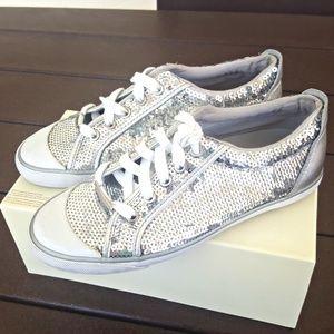 Shoes - ⬇️MARKDOWN⬇ Coach sparkly sequins tennis shoes 6