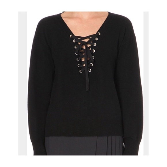 09e442be01 The Kooples lace up sweater