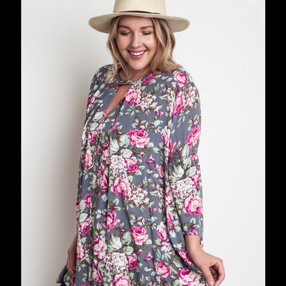 55ec3c27c0b Umgee Floral Multi Colored Dress Tunic 2X (3X)