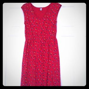 Magenta floral print jersey dress Old Navy size M