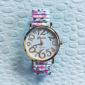 Geneva Accessories - Floral Geneva Watch