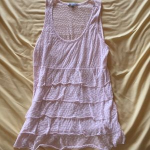 Light pink Charlotte Russe ruffle tank top