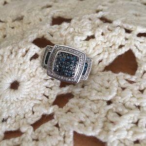 Jtv Diamond Rings >> Sterling And Blue Diamond Ring Price Firm