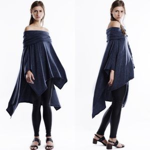 "Bare Anthology Tops - ""Some Clouds"" Off Shoulder High Low Top"