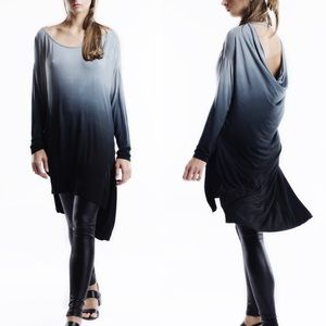 Bare Anthology Tops - Cut Out Back Long Sleeve Tunic