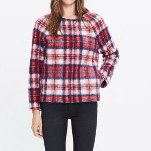 Madewell Brushed Plaid Pullover, Size Large