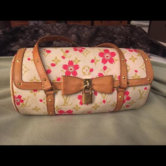 1fd74c1b2ae5 Louis Vuitton Handbags - Louis Vuitton Cherry Blossom Papillon Satchel 2002