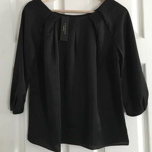 ✨NEW✨Talbots Black Quarter Length Sleeve Top