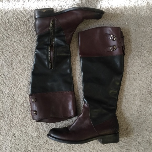 vince camuto vince camuto brown black boots from