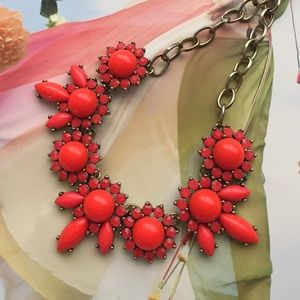 J crew coral necklace