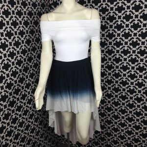 🆕LISTING Blue and White Ombre High Low Skirt