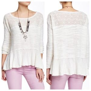 Free People Sweaters - Free people ruffled lightweight sweater