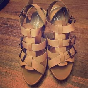 Gladiator style heeled sandals