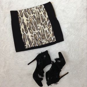 🆕LISTING XOXO Black Skirt with Animal Print