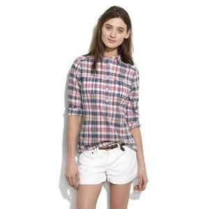 [Madewell] Plaid Popover in Pink