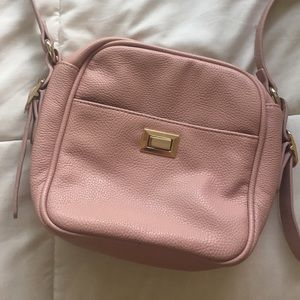 Faux Leather Pink Purse
