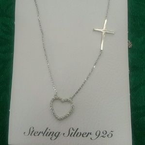 Jewelry - Heart&cross necklace