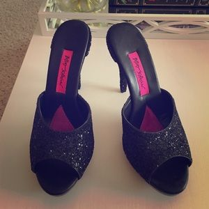 Betsey Johnson Shoes - Betsey Johnson Glitter Heels